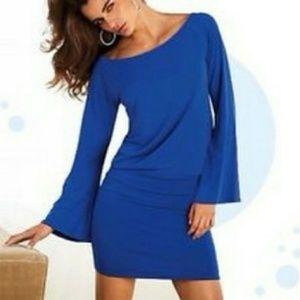 Moda International Drop Waist Bell Sleeve Dress